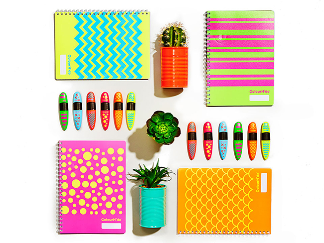stationary and office supplies flat lay photos