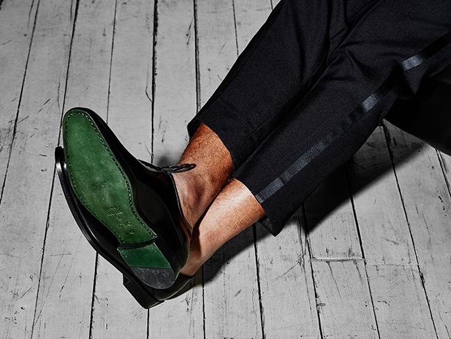 footwear model photography